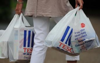 Sacolas Plásticas Inglaterra Tesco